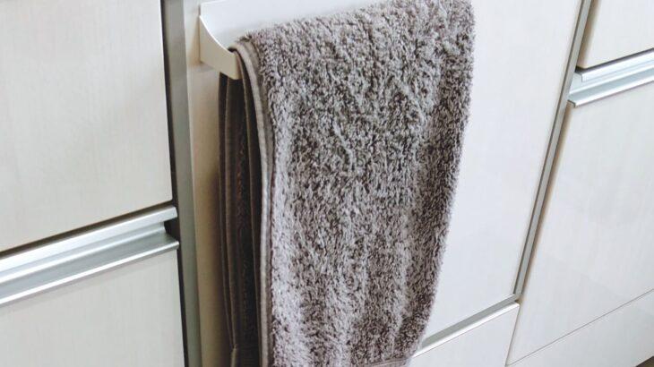キッチンのタオル掛けを100均のタオル掛けに